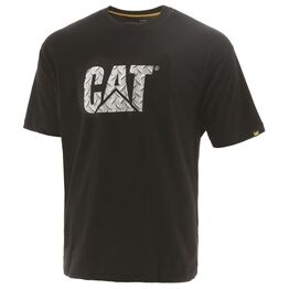 Caterpillar Diamond Plate Custom Logo T-Shirt - Black