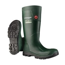 Dunlop FieldPro Full Safety Wellington Boots - Green