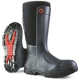 Dunlop Snugboot Pioneer Slip-On Wellington Boots - Black