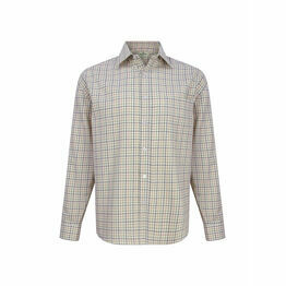 Hoggs Of Fife Pure Cotton Tattersall Checked Shirt - Navy/Green