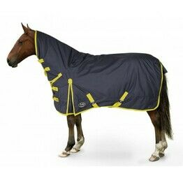 Trojan Medium Weight 600d Combo Turnout Rug - Navy