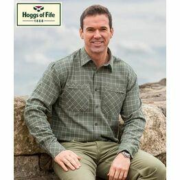 Hoggs Of Fife Pine Luxury Hunting Shirt - Green