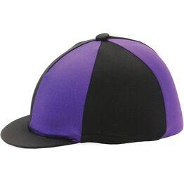 Hy Two Tone Lycra Silks Riding Hat