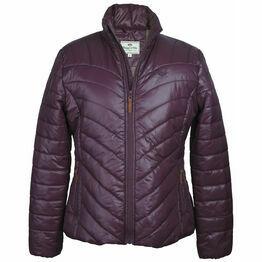Hoggs Of Fife Wilton Ladies Padded Jacket - Dark Plum