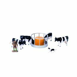 Britains Cattle Feeder Set - With Cattle, Farmer & Sheepdog 43137