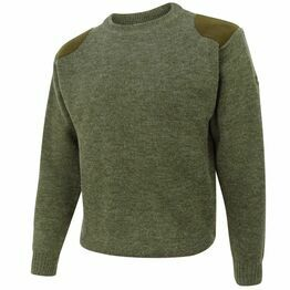 Hoggs of Fife Melrose Hunting Pullover in Marled Green