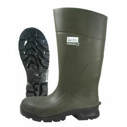 Border Challenger Polyurethane Wellington Boots - Green
