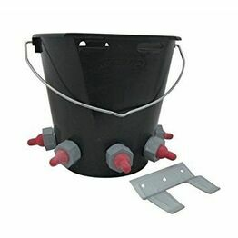 Lamb Feeder Bucket with 5 teats and hanging plate