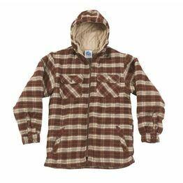 Castle Penarth Hooded Fleece Lined Shirt - Red