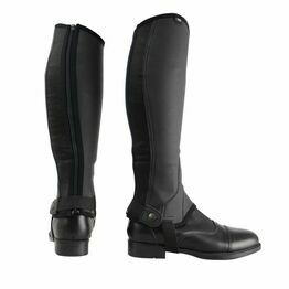 Hyland Synthetic Combi Leather Riding Chaps - Black