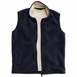 Hoggs Mustang Heavy Fleece Waistcoat - Navy Blue