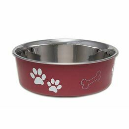 Bella Dog Bowl Merlot Red Finish