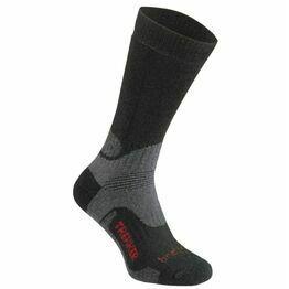 Bridgedale Trekker WoolFusion Socks - Black/Grey