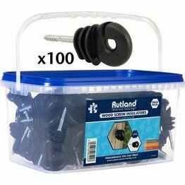 Rutland Bucket Wood Screw Insulator Pack of 100 15-329 R