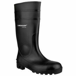 Dunlop Protomastor Full Safety Wellington Boots - Black