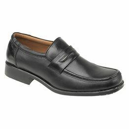 Amblers Manchester Leather Loafers (Black)