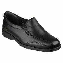 Amblers Merton Black Ladies Slip-On Shoes