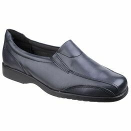 Amblers Merton Ladies Slip-On Shoes (Navy)
