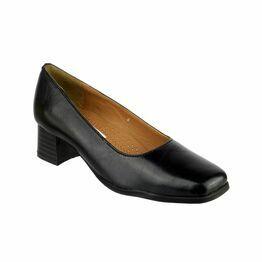 Amblers Walford Ladies Wide Fit Court Shoes (Black)