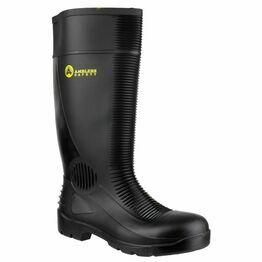 Amblers FS100 Construction Safety Wellington Boots (Black)