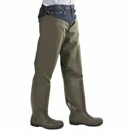 Amblers Safety Forth Thigh Safety Waders (Green)