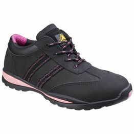 Amblers Safety FS47 Heat Resistant Lace Up Safety Trainers (Black/Pink)