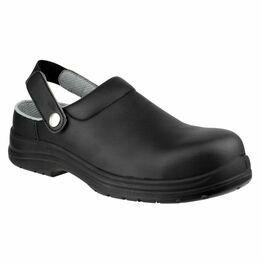 Amblers Safety FS514 Antistatic Slip on Safety Clogs (Black)