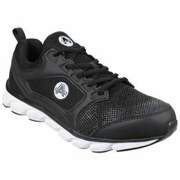 Amblers Safety AS707 Lightweight Non Leather Trainers (Black)