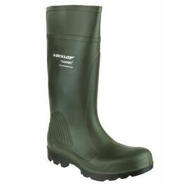 Dunlop Purofort Professional Full Safety Wellington Boots (Green)