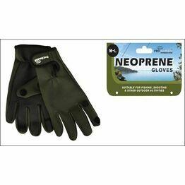 Mens Neoprene Outdoor Gloves - Green