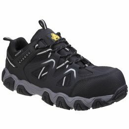 Amblers Safety AS712 Oakham Lace Up Safety Shoes (Black/Grey)