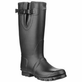 Cotswold Kew Neoprene Rubber Wellington Boots - Black