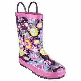 Cotswold Child's Puddle Waterproof Pull On Wellies (Flower)