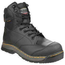 """Dr Martens Black Torrent Safety 8"""" Hi Tie Boots"""