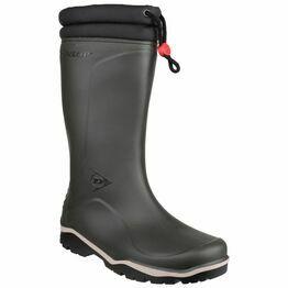 Dunlop Blizzard Fleece Lined Wellington Boots - Green