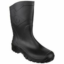 Dunlop Dee Calf Length Wellington Boots (Black)