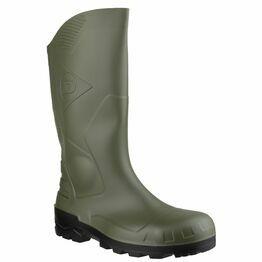 Dunlop Devon Full Safety Wellington Boots (Green/Black)