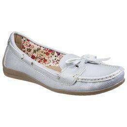 Alicante Boat Shoe in Silver