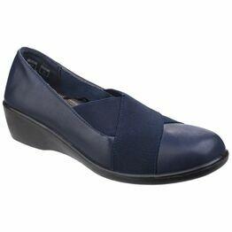 Limba Elasticated Shoe in Navy