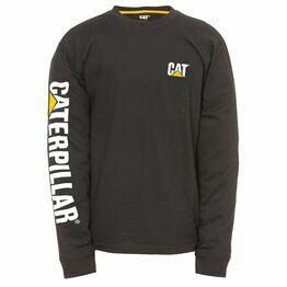 Caterpillar Trademark Banner Long Sleeve T-Shirt - Black