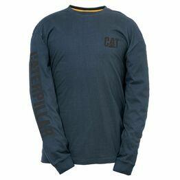 Caterpillar Trademark Banner Long Sleeve T-Shirt - Dark Marine