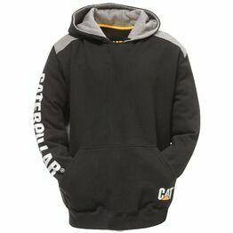 Caterpillar Logo Panel Hooded Sweatshirt in Black