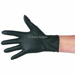 Dairy Spares Milkers Powder-Free Nitrile Gloves - Black (Pack of 100)