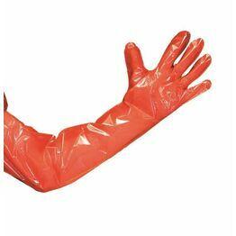 Cox Arm Length Orange Gloves - 100 pack