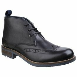 Cotswold Avening Brogue Chukka Boot in Black