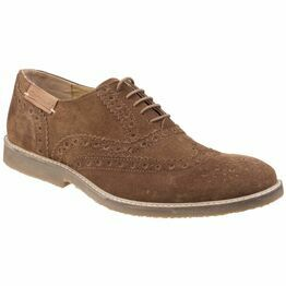 Cotswold Chatsworth Suede Wingtip Shoes in Camel