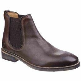 Cotswold Corsham Chelsea Boot in Dark Brown