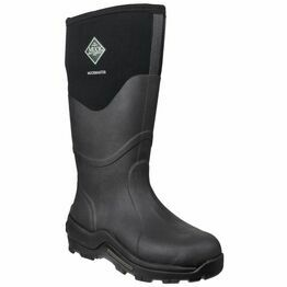 Muck Boots Muckmaster Hi Patterned Wellington Boots in Black