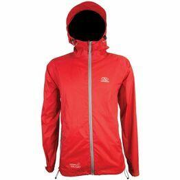 Highlander Stow & Go Packaway Waterproof Jacket - Red