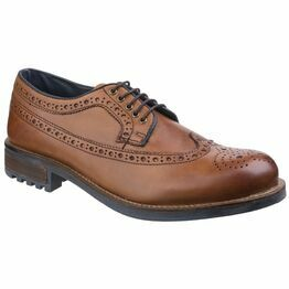 Cotswold Poplar Brogue Dress Shoe in Tan